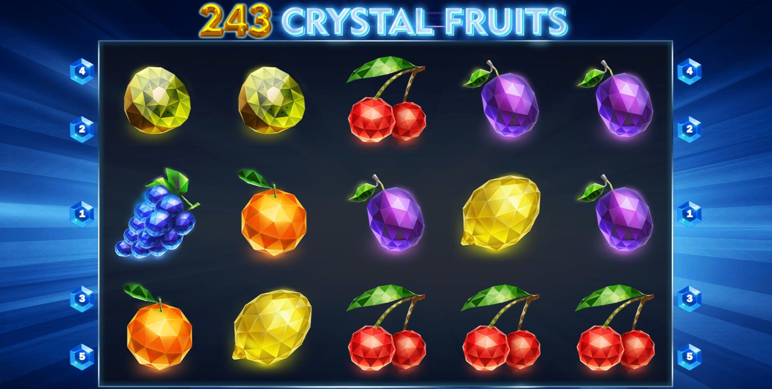 Game Xèng 243 Crystal Fruits, Game Xèng 243 Crystal Fruits HappyLuke